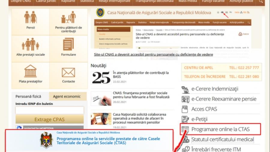 Pentru toate prestaţiile sociale vă puteți programa în regim online la CTAS. Care este programul de lucru