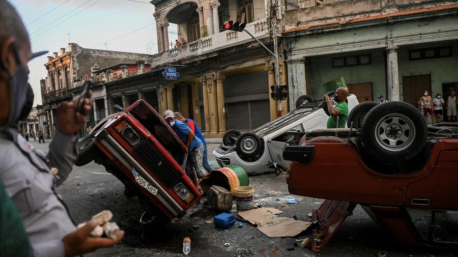 """Proteste în Cuba: Havana acuză SUA că provoacă """"tulburări sociale"""". În polemică intervine și Rusia"""