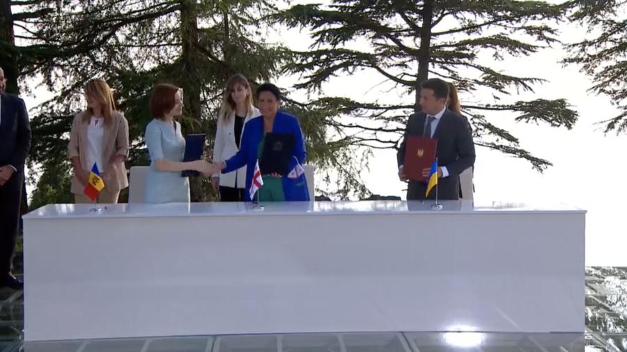 Președinta Georgiei, alături de Sandu și Zelenski: Viitorul european al țării este o parte integrantă a istoriei