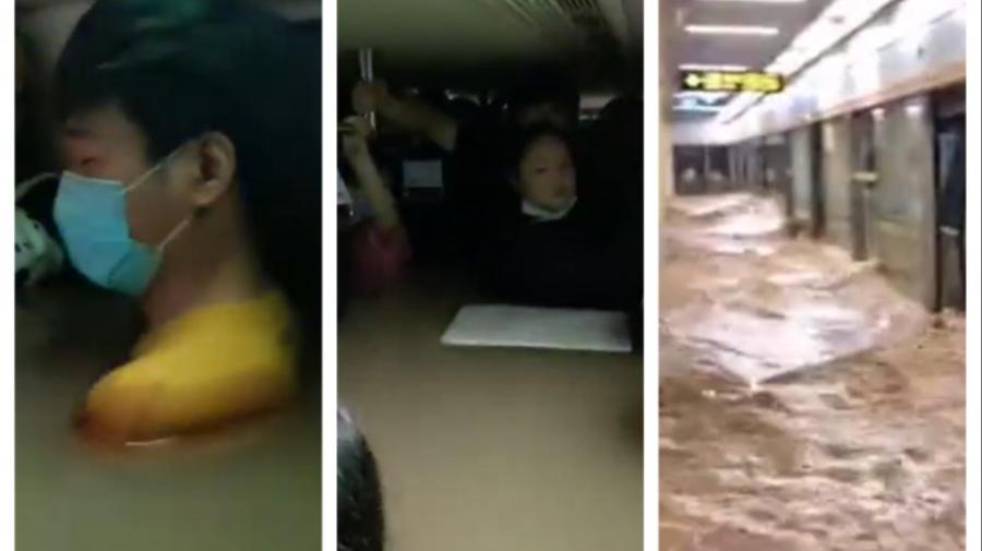 VIDEO 12 persoane au murit într-un metrou inundat din China: Apa a ajuns până la genunchi și apoi până la gât