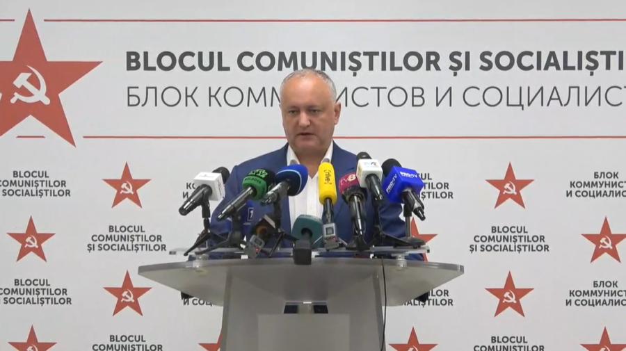 """VIDEO Dodon, fără Voronin, în prima conferință de presă după stop vot. """"S-a terminat cu războaiele"""""""