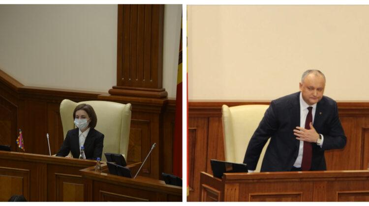 FOTO Socialiștii s-au luat de fotoliul în care a stat Maia Sandu în Parlament. Au uitat doar că și Dodon l-a utilizat