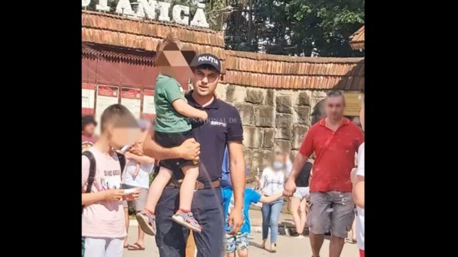 VIDEO Un copil în vârstă de patru ani, s-a pierdut la un festival din Capitală. A fost găsit de ofițerii de patrulare
