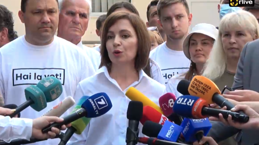 """VIDEO """"Mai aveți timp! Putem decide împreună viitorul țării"""", îndemnul Maiei Sandu către moldoveni"""