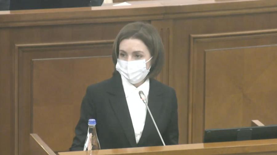 VIDEO Maia Sandu, DISCURS tăios în debutul Ședinței Parlamentului: Declar toleranță zero față de corupție
