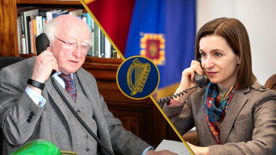 Permise de conducere, diplome și bilete low-cost, subiectele discutate de Maia Sandu cu președintele Irlandei