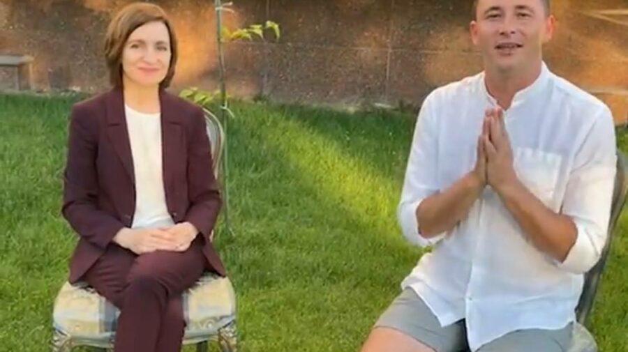 """VIDEO Emilian Crețu dezvăluie cu cât îl răsplătește Maia Sandu pentru """"promovările"""" periodice pe pagina sa de Instagram"""