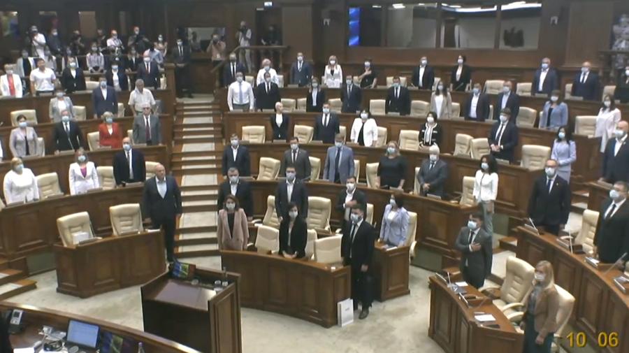Fără zece deputați la constituirea noului Parlament. Prezenți la ședință: Maia Sandu, ambasadori, membri CEC, CCM