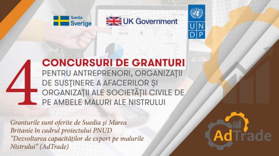 Concursuri de granturi pentru dezvoltarea afacerilor inovative pe ambele maluri ale Nistrului. Cine poate PARTICIPA