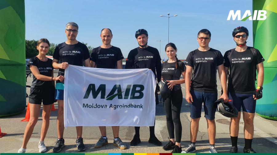 """FOTO Superlativii MAIB au participat la """"Foc la Ghete pe Biciclete"""" pentru susținerea Centrului """"Casa Angelus"""""""