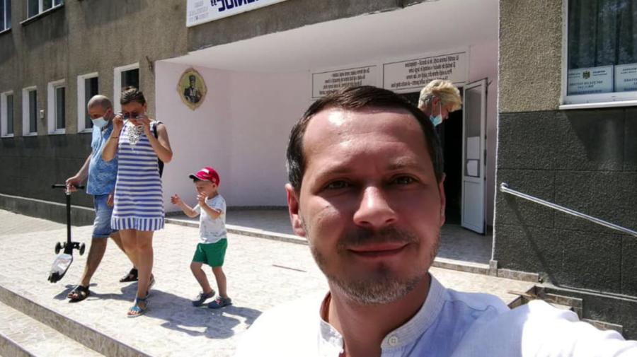 Ruslan Codreanu la secția de votare: Am votat pentru egalitate de șanse