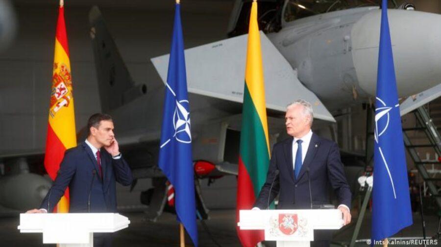 VIDEO Amenințare! Președintele Lituaniei și premierul Spaniei, evacuați dintr-o bază NATO, din cauza unui avion rusesc