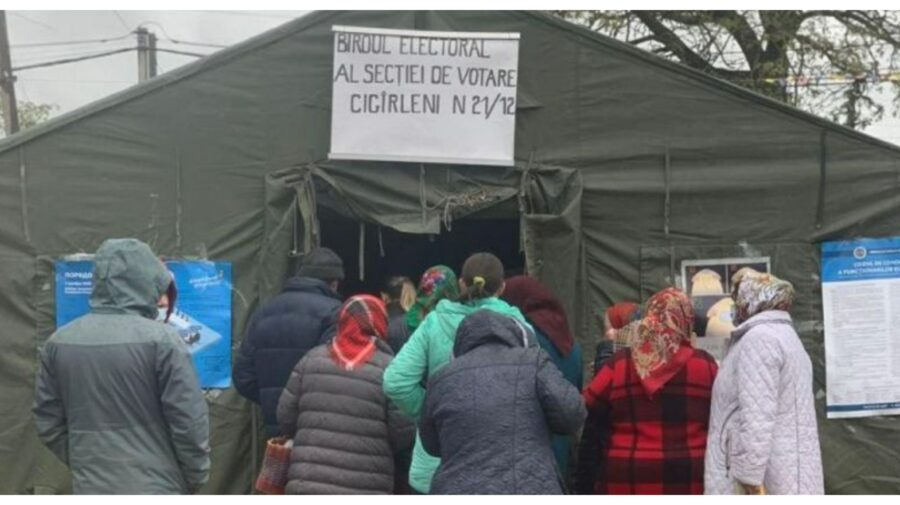 DOC La parlamentare ca la prezidențiale. Într-un sat din componența Chișinăului secția de votare va fi deschisă în cort