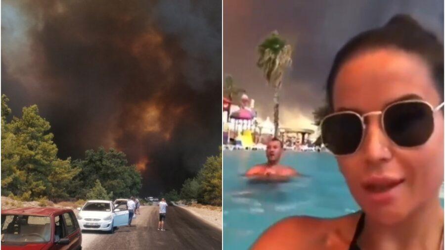 VIDEO Oferte fierbinți la propriu! Turiștii se odihnesc în Turcia care arde de 2 zile