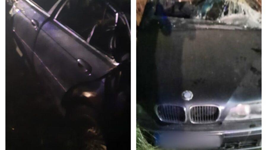 FOTO Grav accident rutier la Drochia! Un BMW a ajuns într-un șanț, iar șoferul a murit la spital