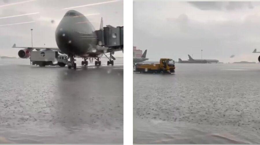 VIDEO Un aeroport din Moscova este inundat, iar avioanele sunt în apă! 16 zboruri, redirecționate spre alte orașe