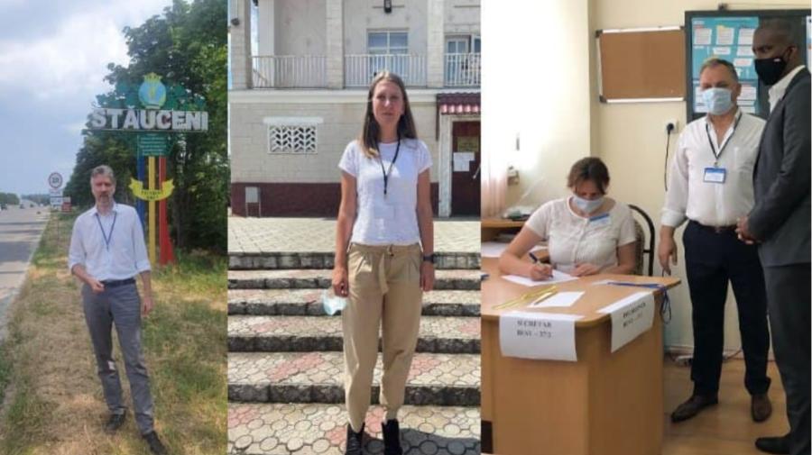 GALERIE FOTO Observatorii de la Ambasada SUA în Republica Moldova participă la monitorizarea alegerilor