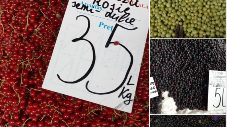 FOTO Prețurile la Piața Centrală, la SFÂRȘIT de săptămâna. Pentru un kilogram de căpșuni veți achita 18 lei