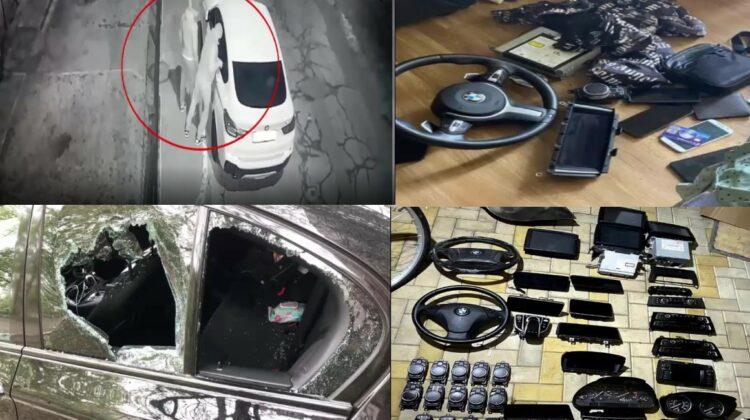 Au furat accesorii în valoare de 2 milioane de lei, de la automobile BMW. Grupare criminală, destructurată de polițiști