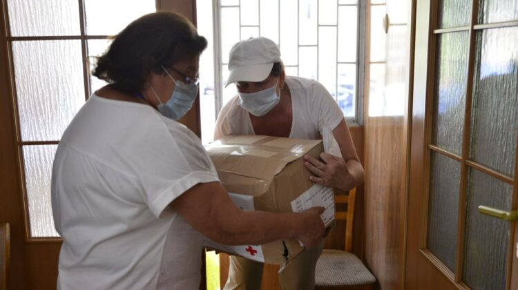 Pachete cu produse alimentare, distribuite familiilor defavorizate. Ce conțin acestea