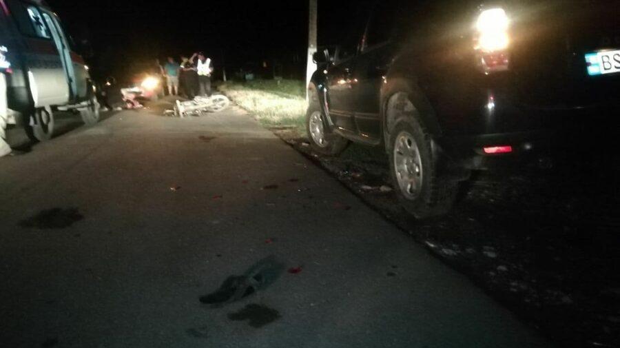 FOTO Accident CUMPLIT la Dondușeni. Un tânăr de 26 de ani a decedat pe loc