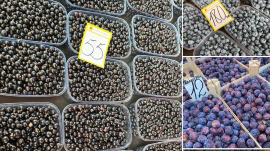 FOTO Prețuri FIERBINȚI la Piața Centrală. Nectarinele, afinele și porumbul sunt la mare căutare în acest SEZON