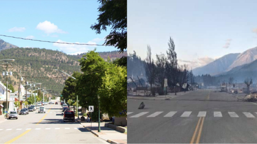 FOTO Te ia groaza! Cum arată orașul canadian care a ars complet, după ce temperatura a ajuns aproape de 50 de grade