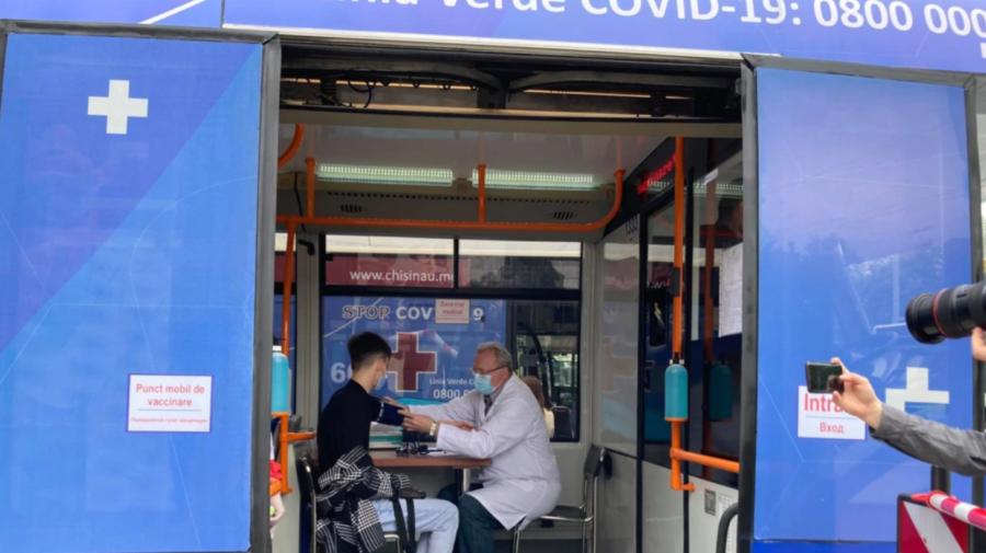 Vaccinarea pe roți continuă! Astăzi, punctele mobile vor staționa în sectorul Centru. Vezi adresele