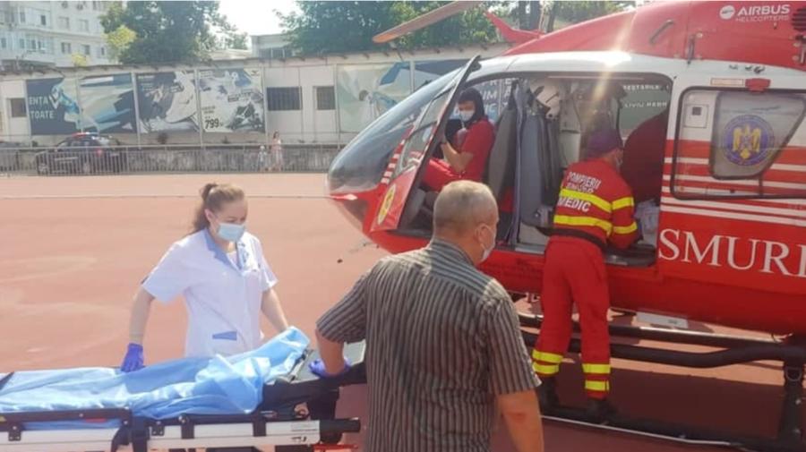 Femeie din Vulcănești, transportată la SPITAL. A fost nevoie de o intervenția aero-medicală SMURD