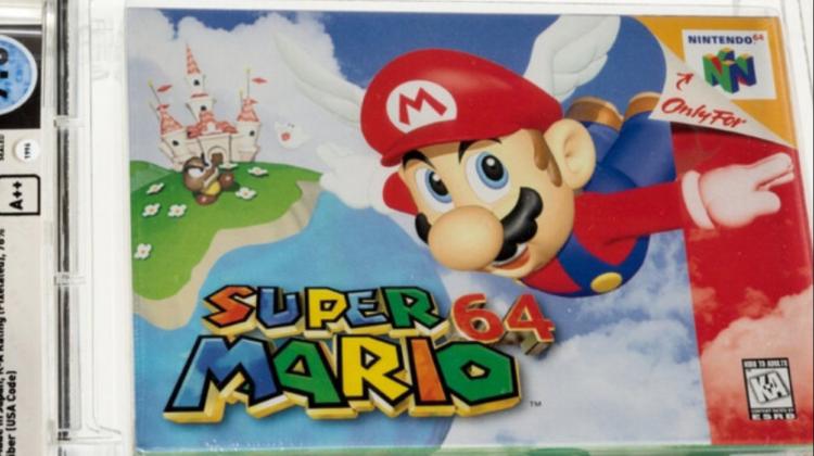 Un nou record! Jocul video Super Mario 64 s-a vândut la licitație pentru 1,5 milioane de dolari