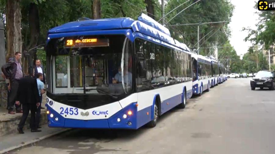 VIDEO A fost LANSATĂ linia de troleibuz cu numărul 28. Câte unități se vor deplasa în Capitală și ce sectoare leagă
