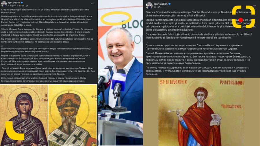 STOP CADRU despre cum pagina de Facebook a ex-președintelui Dodon s-a transformat în Calendar Creștin Ortodox