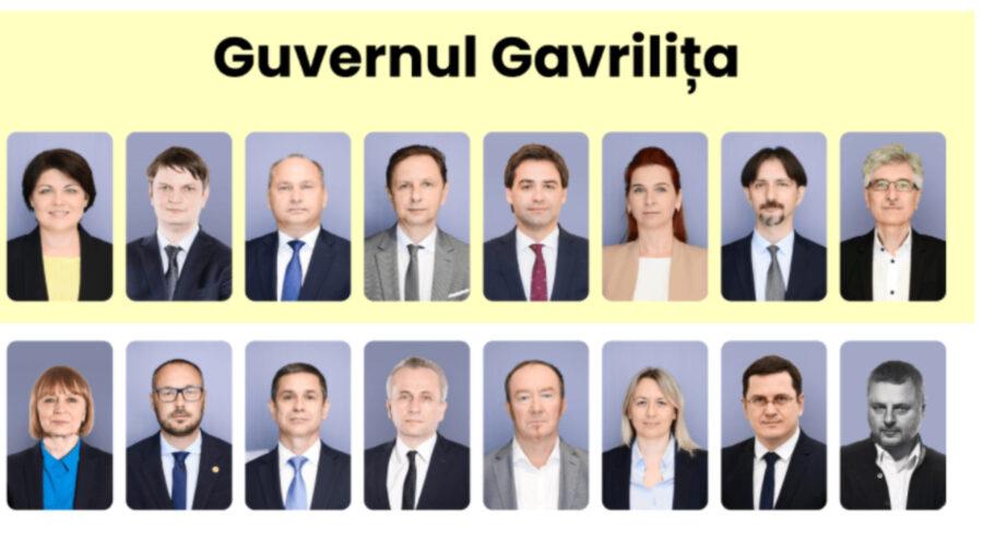 FOTO ULTIMA ORĂ! Gavrilița și-a prezentat cabinetul de miniștri. Vor fi mai multe ministere decât în actualul Guvern
