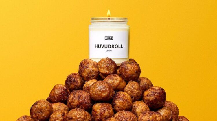 Ikea a creat lumânări parfumate cu aromă de chiftele