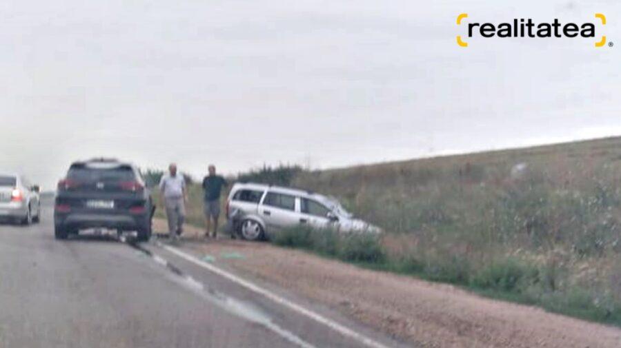 FOTO Un accident matinal pe segmentul de traseu dintre Cricova și Grătiești