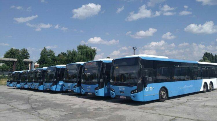 FOTO În curând, pe străzile Capitalei. Alte NOUĂ autobuze au ajuns la Chișinău