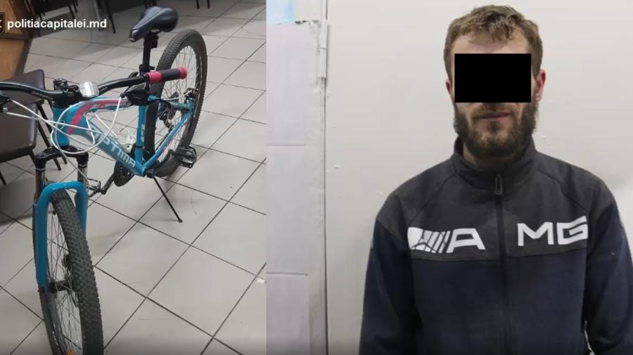 """VIDEO Nu i-au plăcut toate bicicletele din scara blocului. A ales una mai """"bunișoară"""", iar apoi a furat-o. Ce RISCĂ"""
