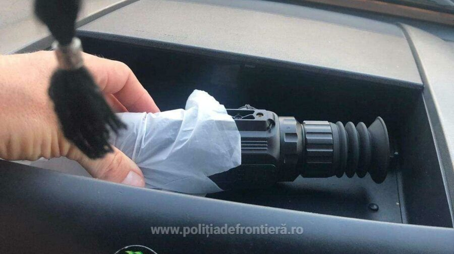 FOTO Depistat la frontieră cu dispozitive de ochire pentru ARME. Conaționalul urma să le transporte în Turcia