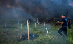 GALERIE FOTO Polițiștii de frontieră au fost supuși diferitor probe în competiția pentru obținerea Beretei de Onoare