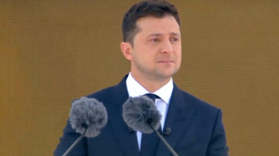 VIDEO Lacrimi de președinte! Zelenski s-a emoționat și a plâns în timpul paradei dedicate Zilei Independenței Ucrainei