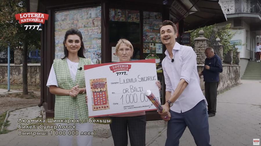 """VIDEO O pensionară din Bălți a devenit milionară cu noul bilet """"Super Loto+"""""""