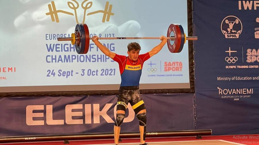 Încă un succes! Halterofilul Daniel Lungu a cucerit două medalii la Europenele Under 23