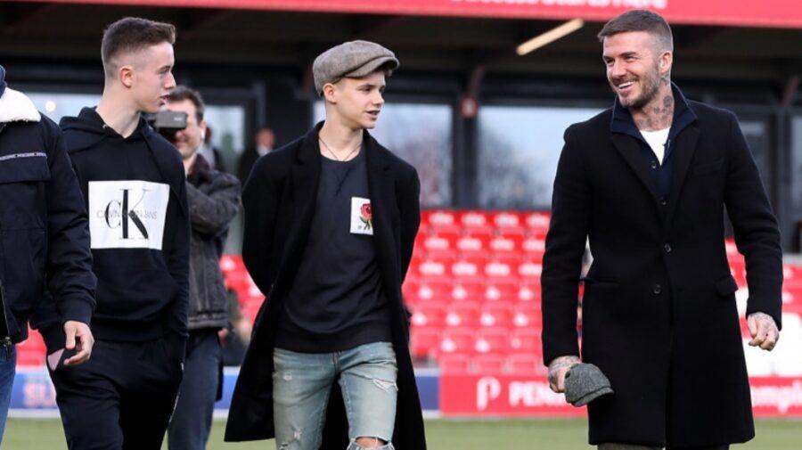 Fiul lui David Beckham şi-a făcut debutul ca jucător profesionist de fotbal