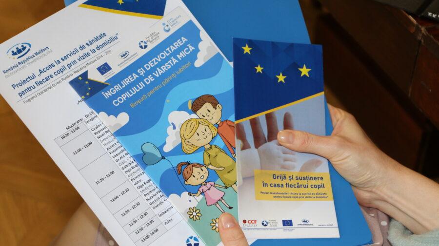 """Proiectul """"Acces la servicii de sănătate pentru fiecare copil prin vizite la domiciliu"""" s-a încheiat. A durat 18 luni"""