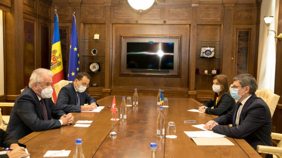 Dezvoltarea relațiilor dintre Turcia și Moldova, discutate de Igor Grosu cu ambasadorul Ankara la Chișinău