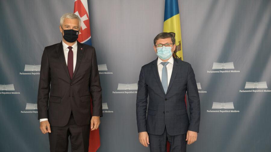 Mulțumiri și aprecieri! Grosu și Gherman, în discuții cu ministrul de Externe al Slovaciei