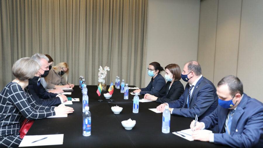 Sandu gătește terenul schimbului de experiență între autoritățile din Moldova și Lituania. Discuție purtată la New York