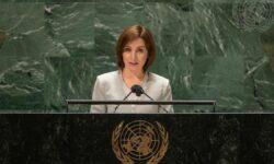 Maia Sandu a cerut, la ONU, ajutor internațional în retragerea munițiilor din stânga Nistrului