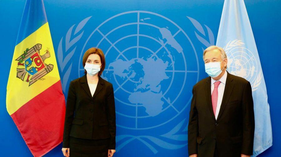 Discuție la New York între Maia Sandu și Secretarul general ONU. Șefa țării noastre i-a confirmat niște lucruri