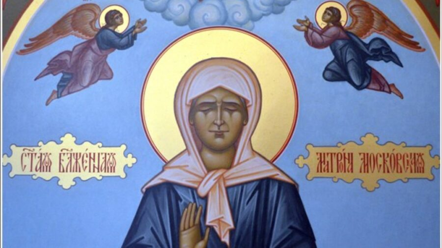 FOTO Icoana şi părticele din moaştele Sfintei Matrona de la Moscova au fost aduse la o biserică din Chișinău